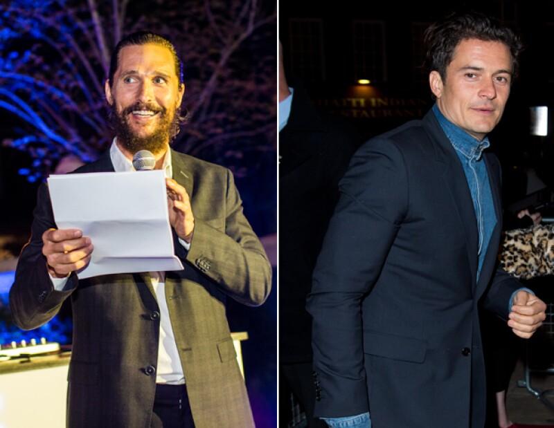 Matthew McConaughey y Orlando Bloom tienen fobias poco comunes.