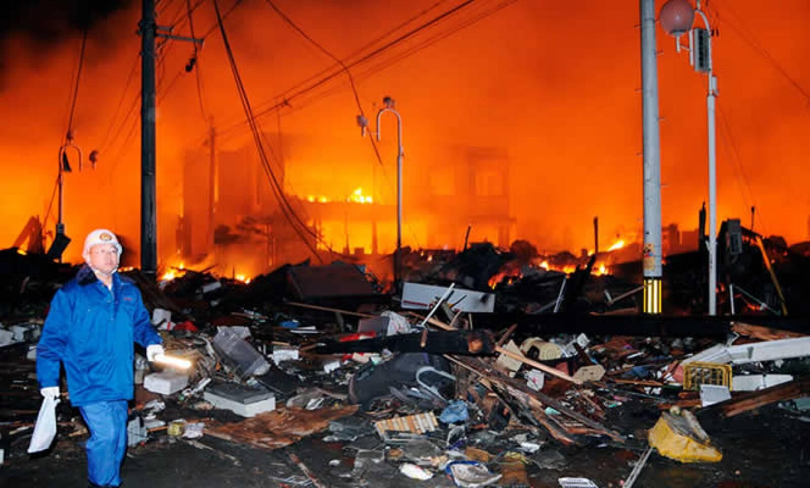 Decenas de casas destruidas en la ciudad de Iwaki, dentro de la provincia de Fukushima.