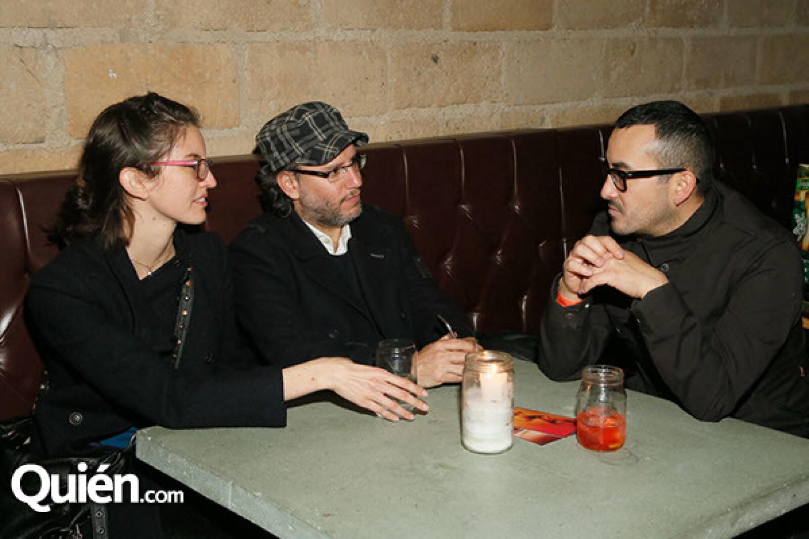 Sofía Ochoa,Simón Lebon y Pablo Romo