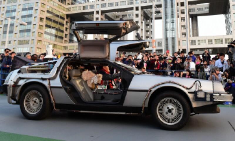El DeLorean japonés funciona con eergía producida con basura. (Foto: AFP)