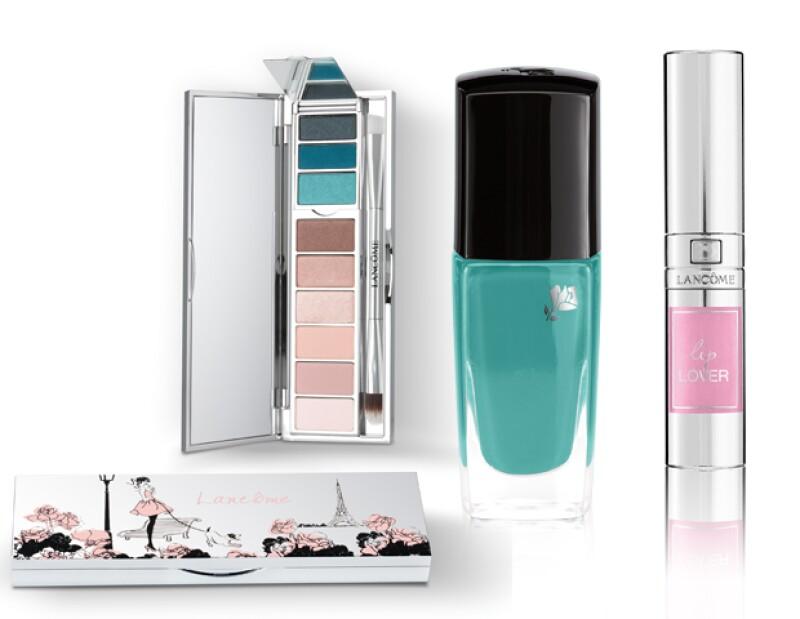 Palette $990; Vernis in Love $315; Lip Lover $400, Lancôme, tiendas departamentales.