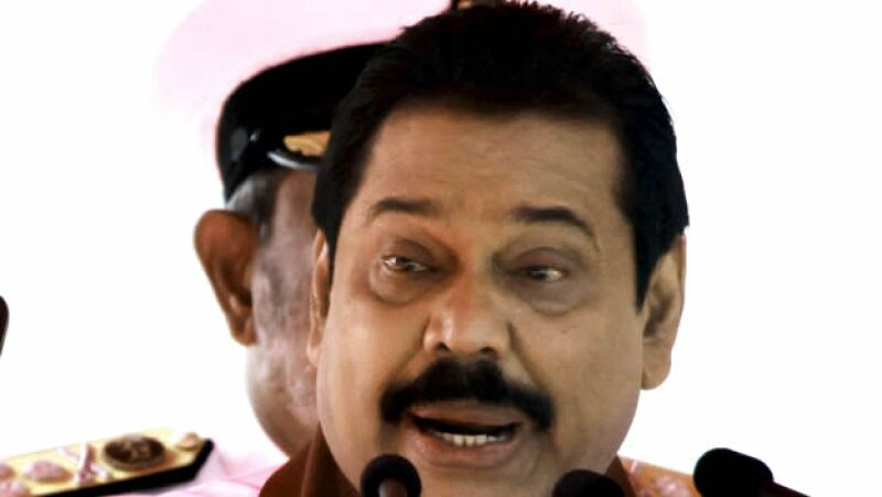 Mahinda Rajapaksa, presidente de Sri Lanka, enfrentó a los rebeldes tamiles