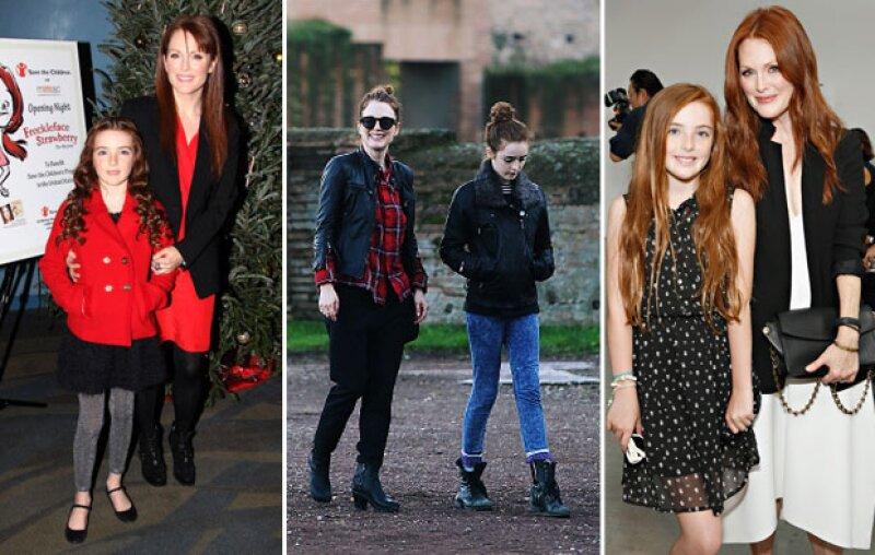 Liv es la viva imagen de su madre Julianne, quien le ha heredado su estilo fashionista.