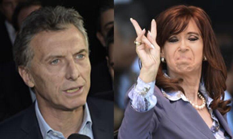 Macri y Fernández, el poder entrante y el gobierno que se va (Foto: AFP/Archivo)