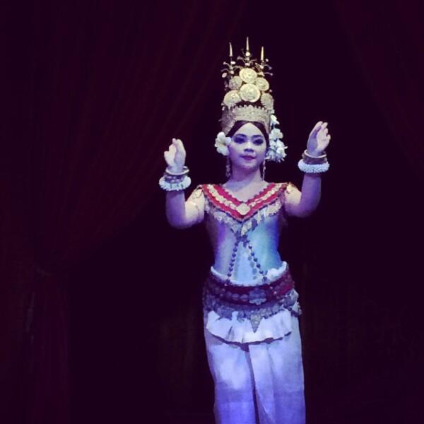 Bailarina camboyana.