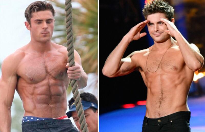 Es notorio el cambio en la figura del actor de 28 años.