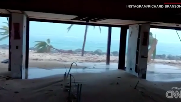 Tras el paso del huracán Irma, así quedó la isla privada de Richard Branson