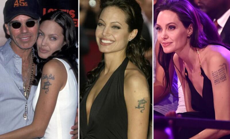 Angelina Jolie se modificó su tatuaje, que en un principio se hizo en honor a su ex esposo.