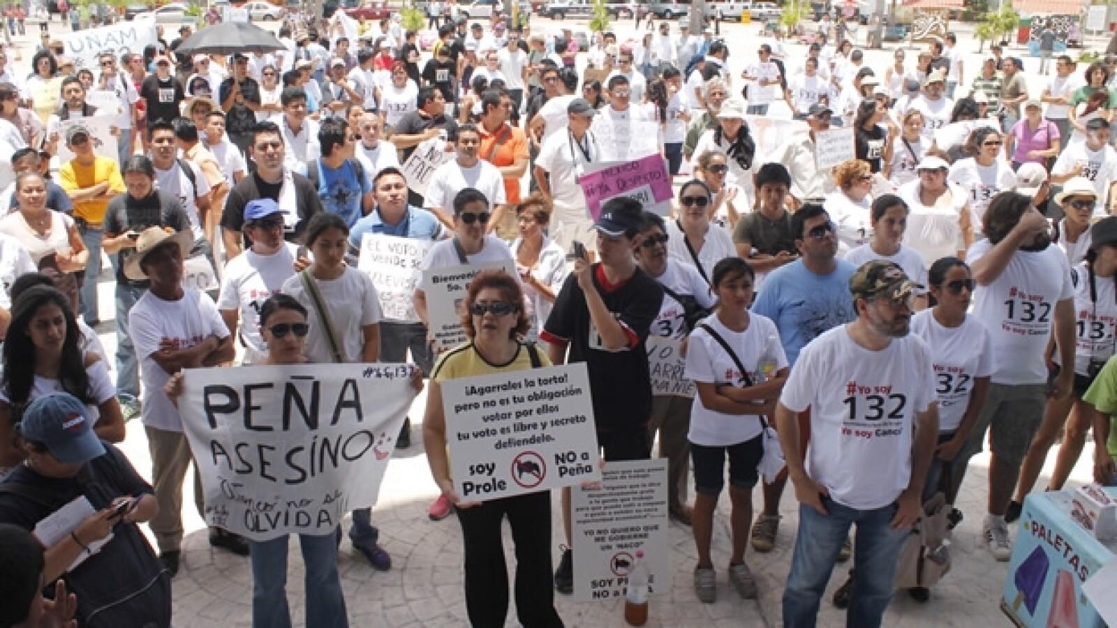 marcha anti peña en cancún