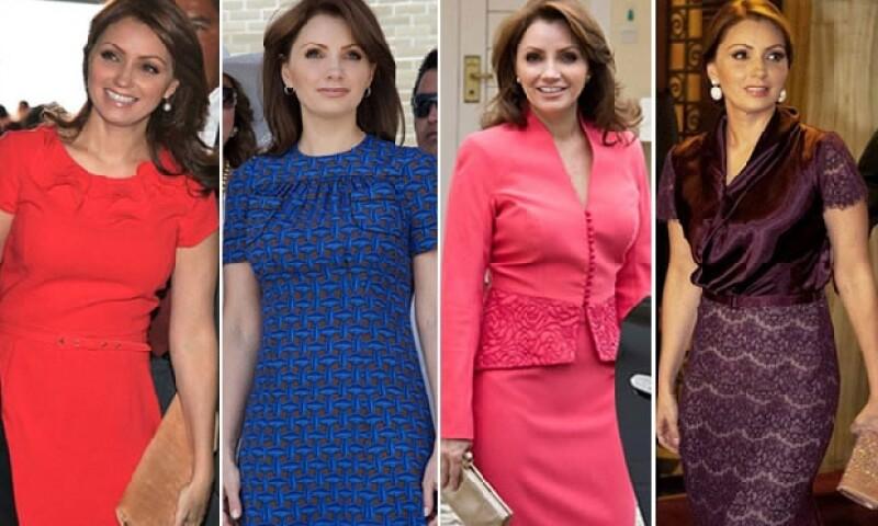 Los vestidos y faldas son básicos en el guardarropa de la primera dama.