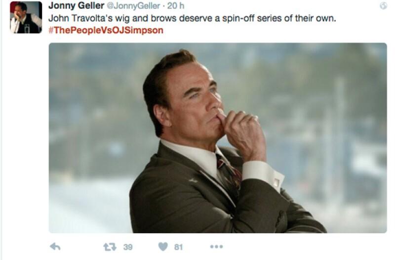 Así es como la gente ha reaccionado a la cara de John: Las cejas y peluquín de John merecen un spin-off para ellas solas.