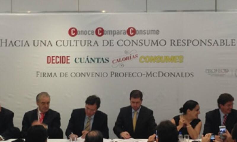 El convenio busca promover el consumo saludable entre la población mexicana. (Foto: Tomada de Twitter.com/profeco)