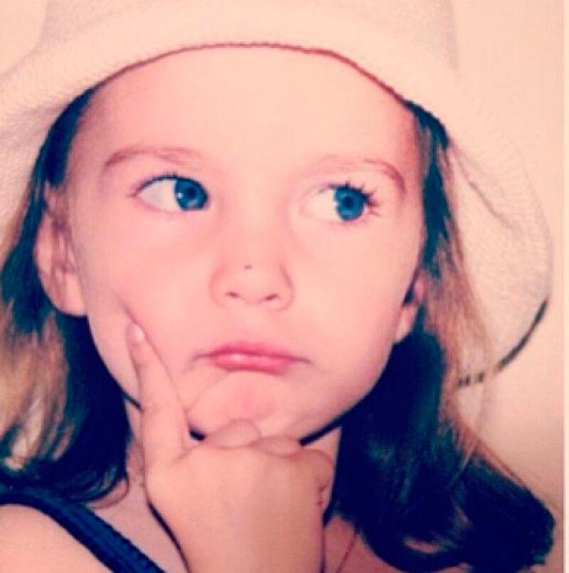 Alejandro Basteri publicó esta foto de su hija cuando era pequeña.