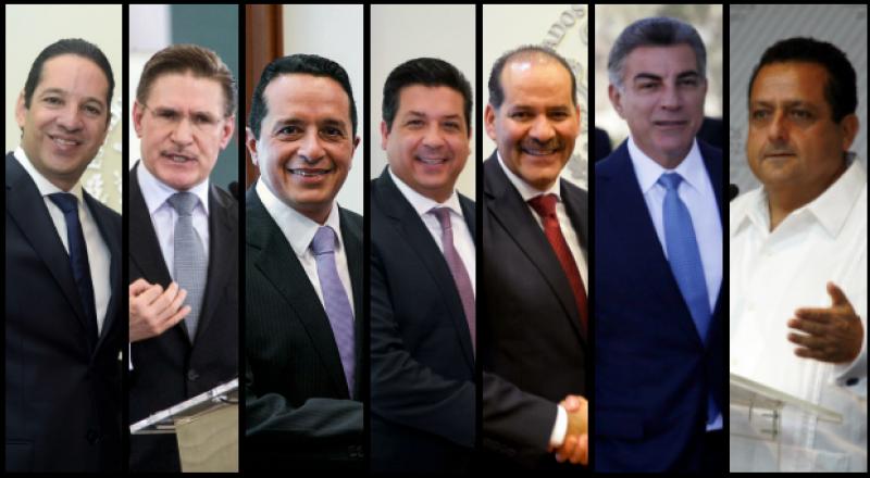7 de 12 gobernadores