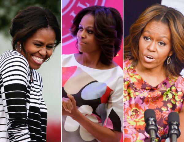 Michelle se atreve a llevar todo tipo de estampados y sus elecciones son acertadas.