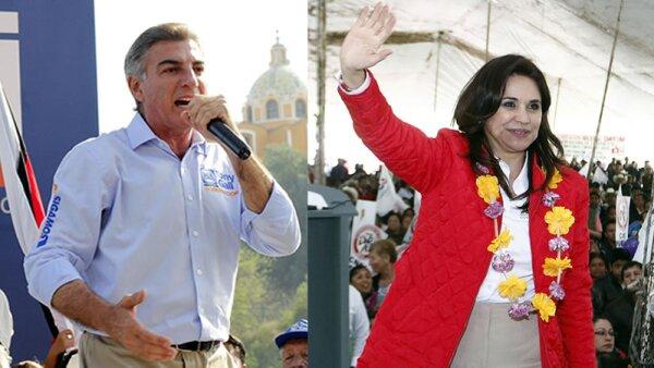 Antonio Gali Fayad del PAN y Blanca Alcalá del PRI son los candidatos que se mantienen en la carrera por la gubernatura de Puebla.