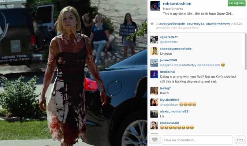 """El hermano de la estrella televisiva la ha llamado """"zo**a"""", a través de las redes sociales, comparándola con la asesina protagonista de la película &#39Perdida&#39."""