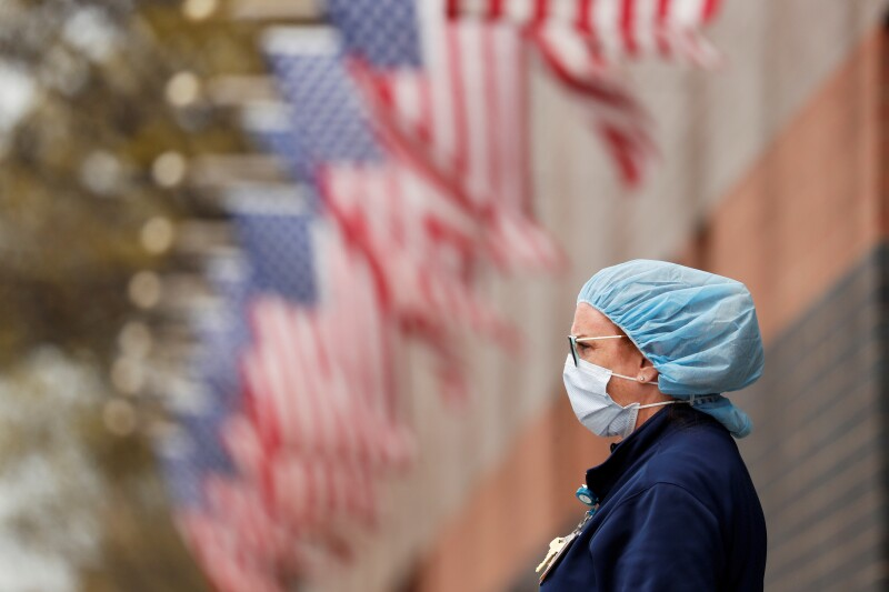 FILE PHOTO: Coronavirus disease (COVID-19) outbreak, in New York