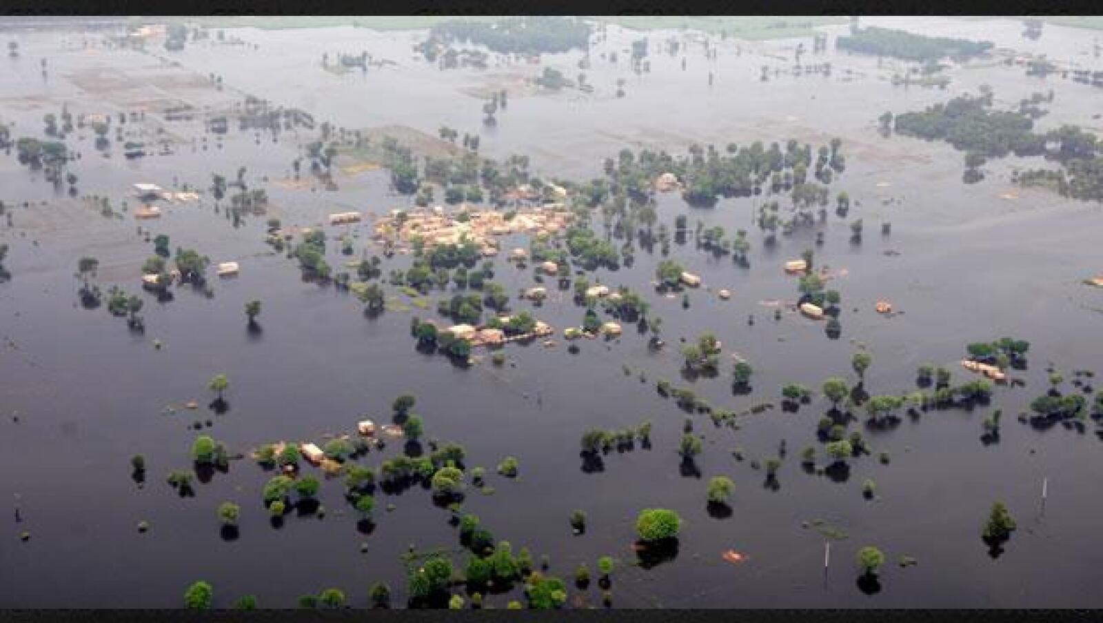 Zonas inundadas en Pakistan