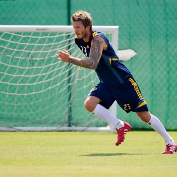 beckham entrena con el AC Milan