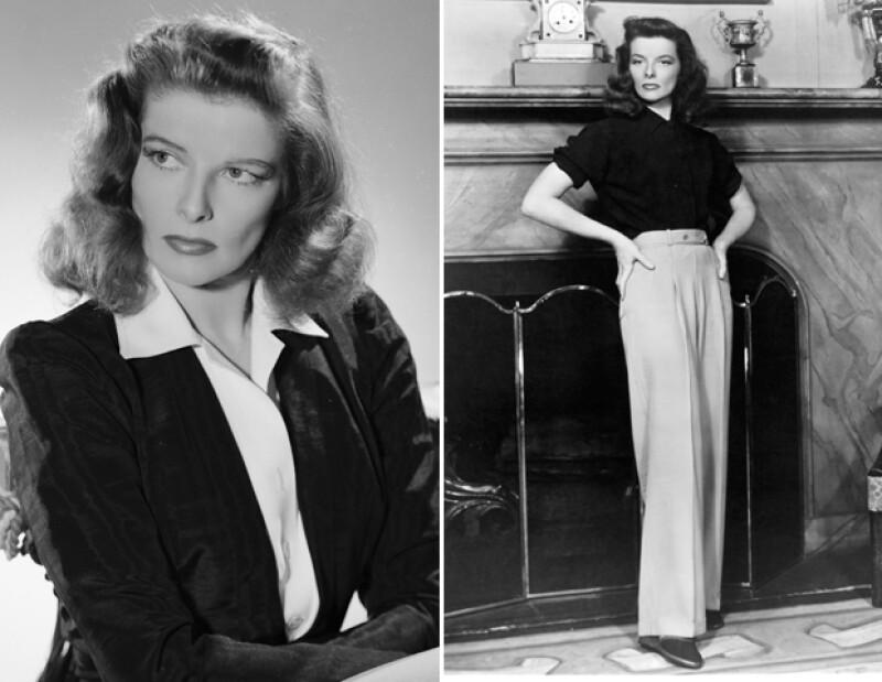 Katherine Hepburn pensaba en sencillez y comfort. Junto con Marlene, fueron cómplices en el look andrógino y fanáticas de los pantalones.