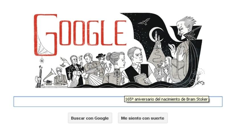 Dracula de Bram Stoker, google, doodle