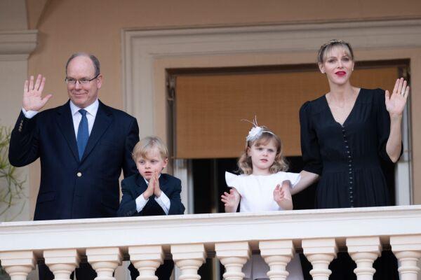 Alberto II, Jacques, Gabriella y Chàrlene de Mó