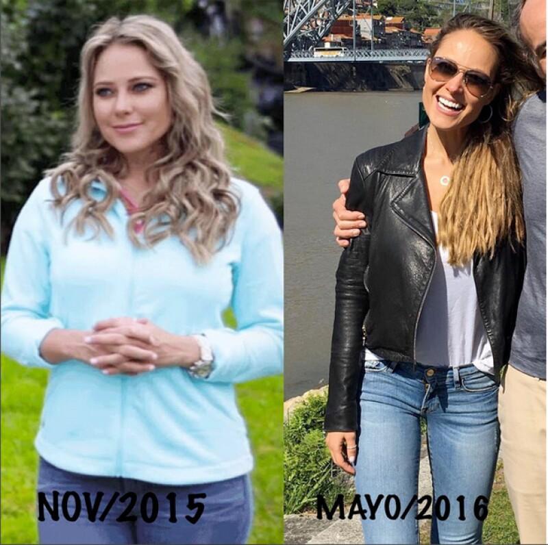 Vanessa compartió esta imagen del cambio que ha tenido su cuerpo los últimos meses.
