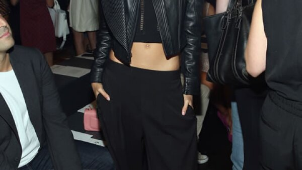 La modelo portuguesa Sara Sampaio estuvo en primera fila de BCBG MAX AZRIA.