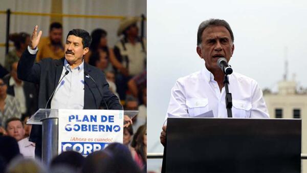 Javier Corral (derecha) y Miguel Ángel Yunes Linars prometieron en su campaña que mandarán a la cárcel a sus predecesores en el gobierno.
