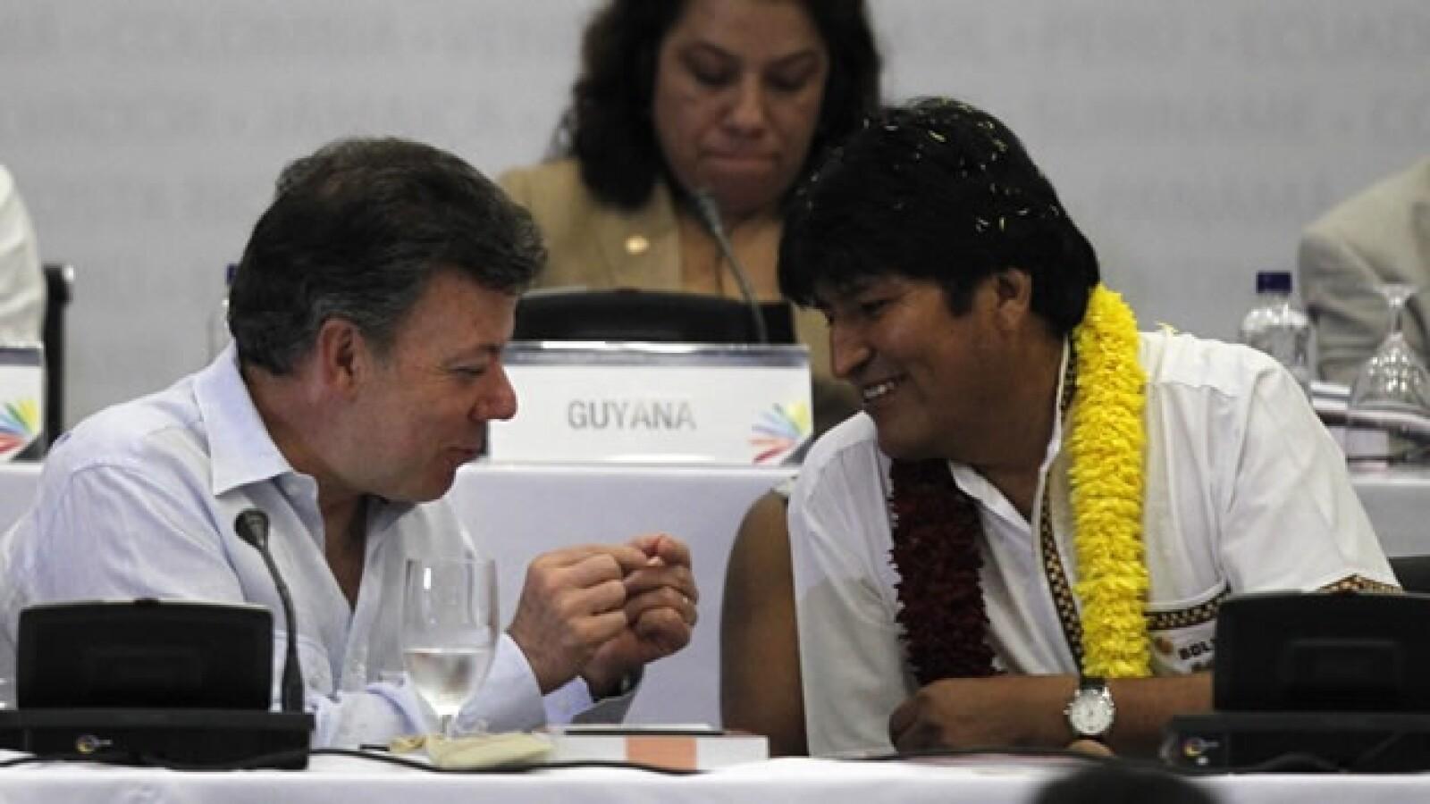 Santos y Evo Morales cumbre