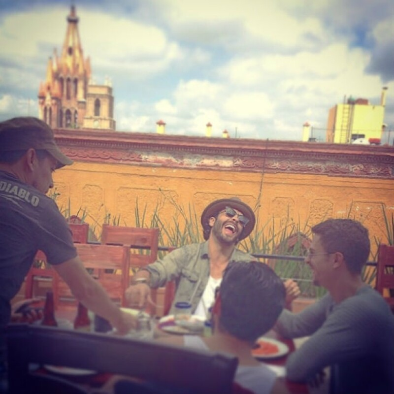 Gonzalo García-Vivanco disfrutó junto a Aarón Díaz y amigos de Guanajuato.