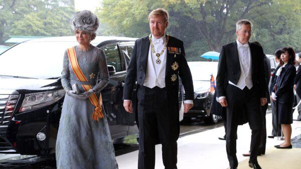 Máxima y el rey Guillermo Alejandro de Holanda