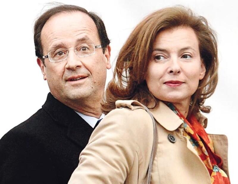 Valérie Trierweiler, novia oficial del presidnete, confluctuada primera dama de Francia y, se dice, mujer muy celosa.