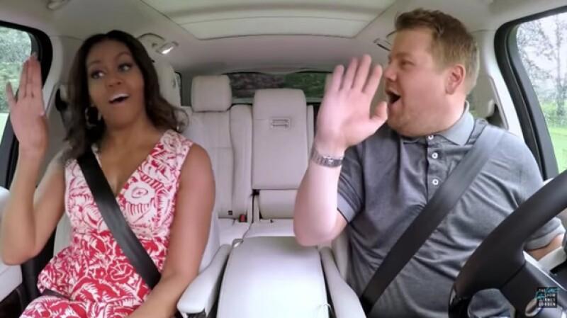 La esposa del presidente de Estados Unidos se subió al Carpoll Karaoke de James Corden y ya hay un adelanto del momento, donde mostró cómo canta `Single Ladies´.