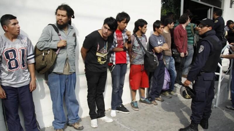 Detenidos en protestas contra Peña Nieto