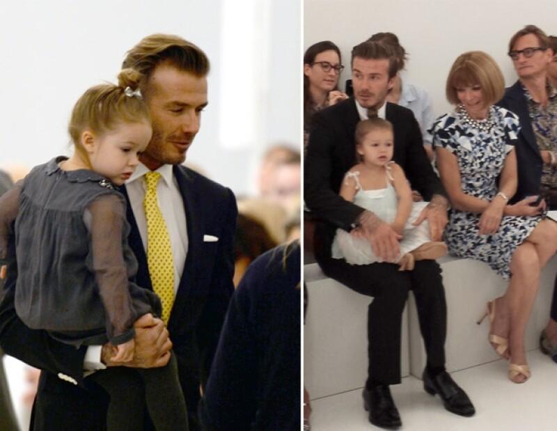 """""""Daddy´s little girl"""". De acuerdo con el futbolista, David """"encerrará"""" a Harper en un castillo para que los niños no se le acerquen."""