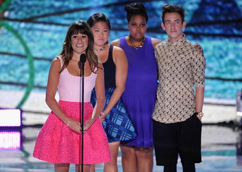 """Entre lágrimas y con un emotivo discurso, la actriz de """"Glee"""" dedicó su premio a su fallecido novio. Agradeció al público por las muestras de cariño y apoyo las últimas semanas."""