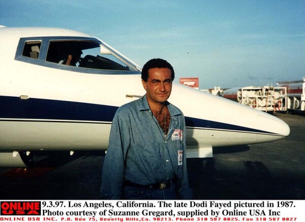 9.3.97. Los Angeles, California. The late Dodi Fayed pictured in 1987