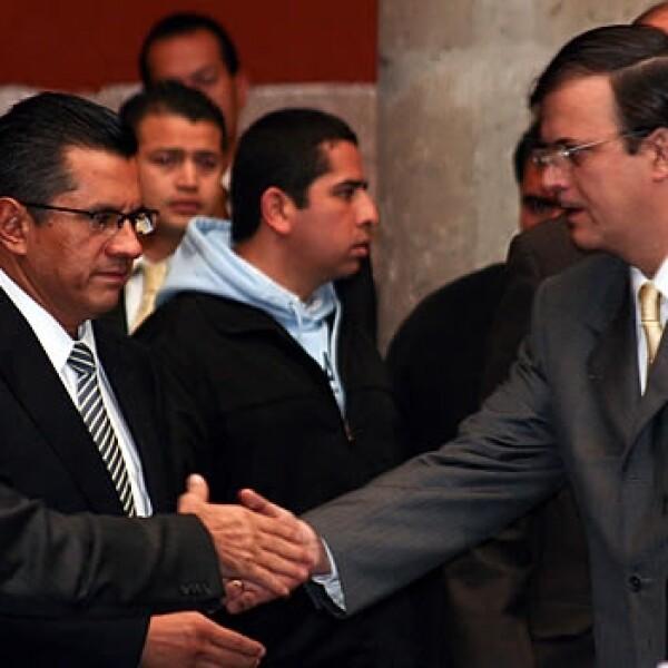 Joel Ortega y marcelo ebrard