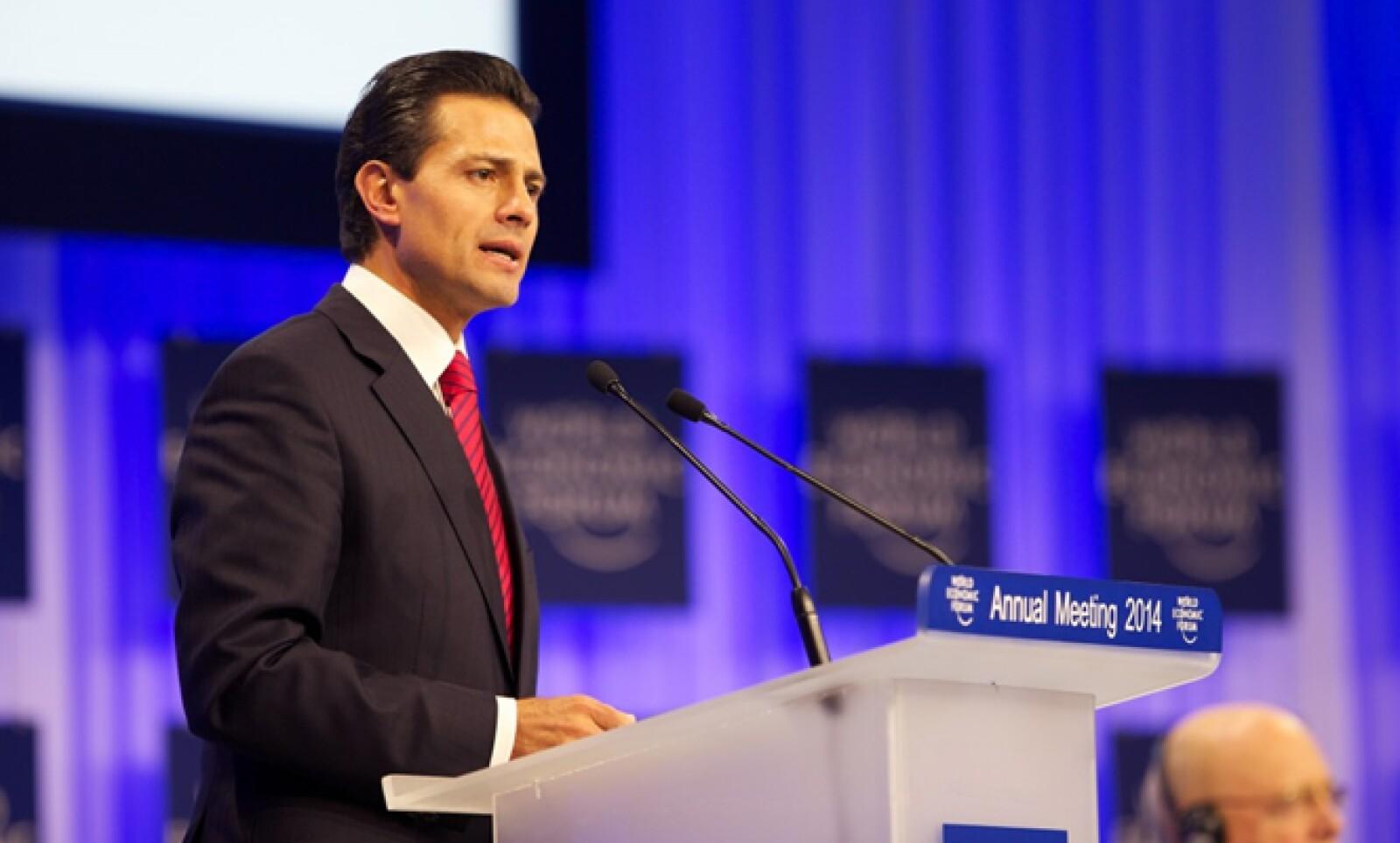 El presidente también presumió las reformas aprobadas durante su primer año de Gobierno.