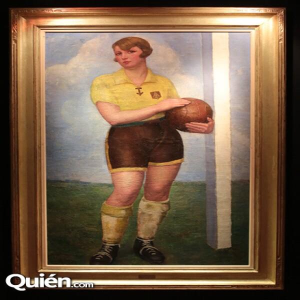 Ángel Zarraga La futbolista Rubia