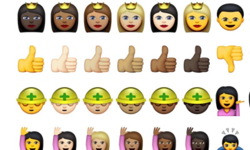 Así aparecen los emojis en el nuevo iOS 8.3. (Foto: Especial)