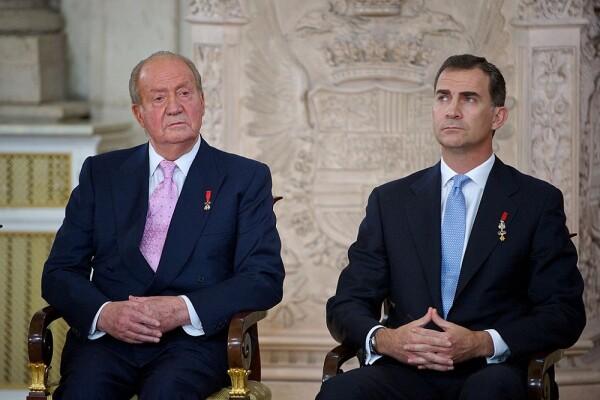 Rey Juan Carlos y Felipe VI