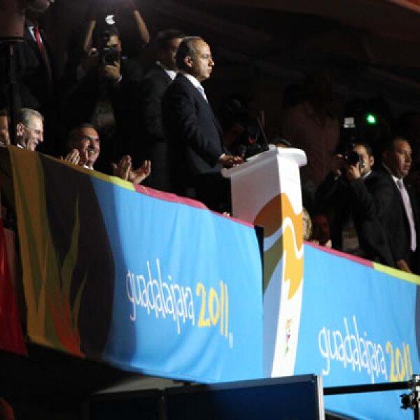 Al dar por iniciada la justa, el presidente Felipe Calderón dijo que los juegos simbolizan la unión fraterna, la paz y la prosperidad que anhelamos para todos los pueblos de nuestra América.