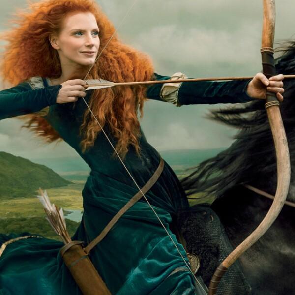 Jessica Chastain como Merida la princesa de Brave
