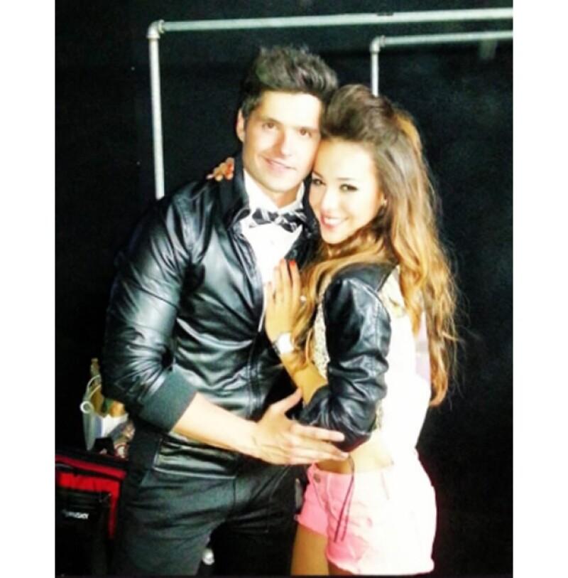 Eleazar compartió esta imagen junto a Danna Paola durante los Millenial Awards de este año. Ambos se conocieron durante las grabaciones de la telenovela `Atrévete a soñar´.