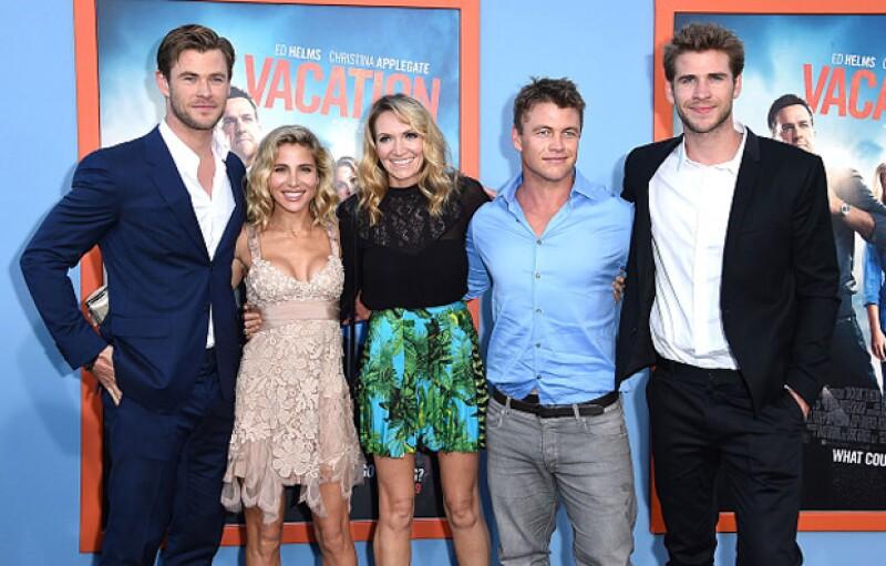 Poco a poco Miley se ha reintegrado a la familia Hemsworth, que parece llevarse muy bien con ella.