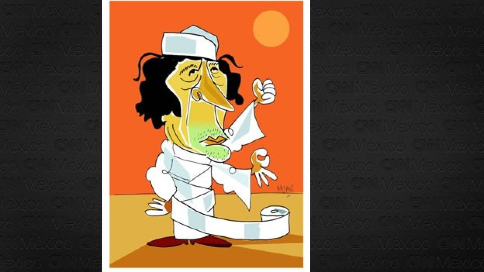 Gadhafi - caricatura - Hayati Boyacioglu