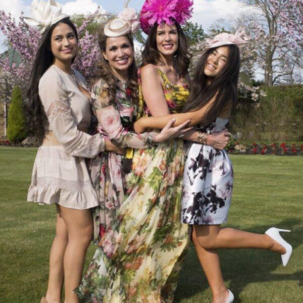 Perrine Falcone, Sonia Falcone, Christina Estrada y Sirina Juffali